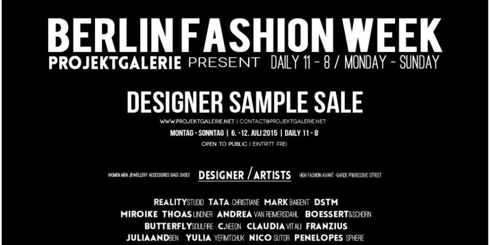 Designer Sample Sale in der YBDD Galerie in Mitte