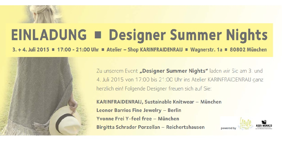 Design Summer Nights im Atelier Karinfraidenraij