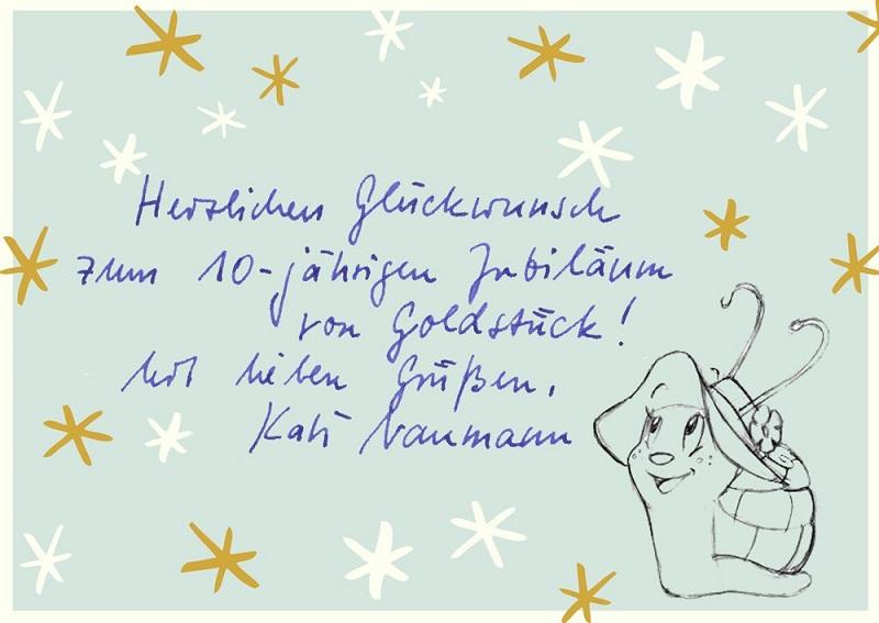 Großbotschaft von Autorin Kati Naumann